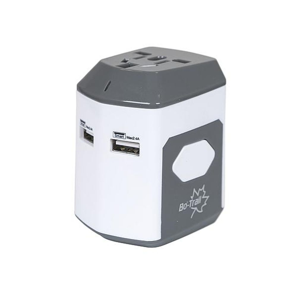 Bo-Trail - Reisstekker - Global - Met USB