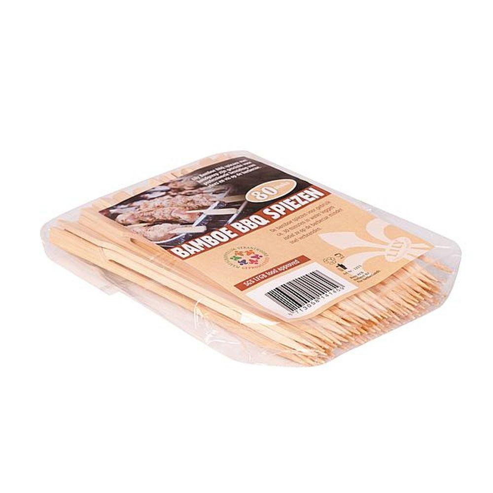 Lily - Bamboe Barbecue spiezen - Deluxe - 18,5 cm - 80 Stuks