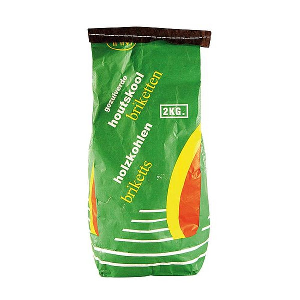 Houtskool briketten in zak van 2kg