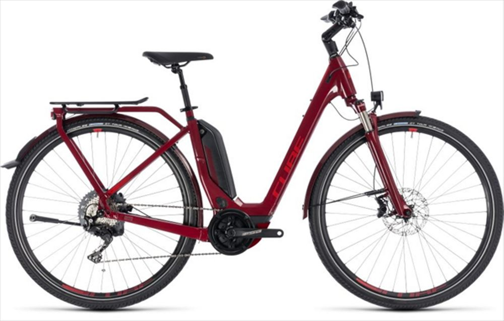 CUBE TOURING HYBRID EXC 500 DARKRED/RED 18/19 EE54