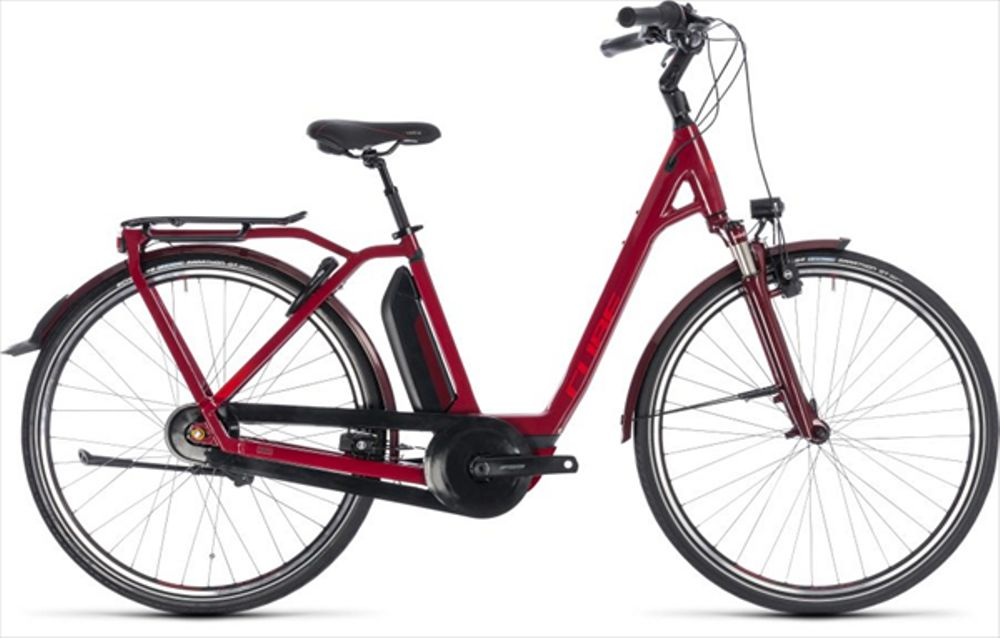 CUBE TOWN HYBRID PRO 400 DARKRED/RED 2018 EE 42 CM
