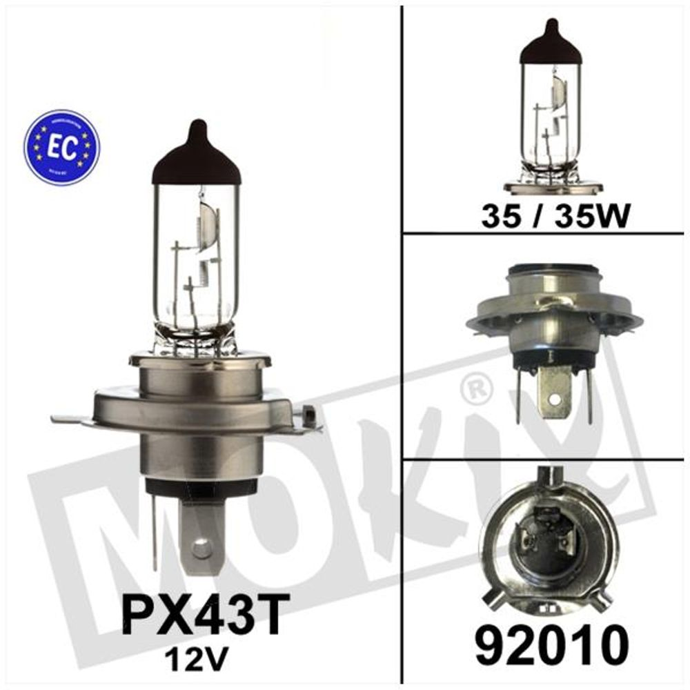 Lamp Scooter Philips PX43T 12V 35/35W HS1 CE