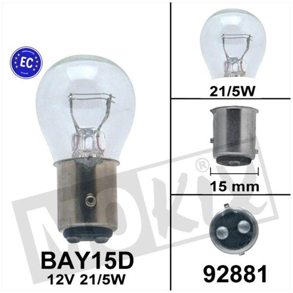 Lamp Bollard BAY15D 12V 21/5W CE-keur