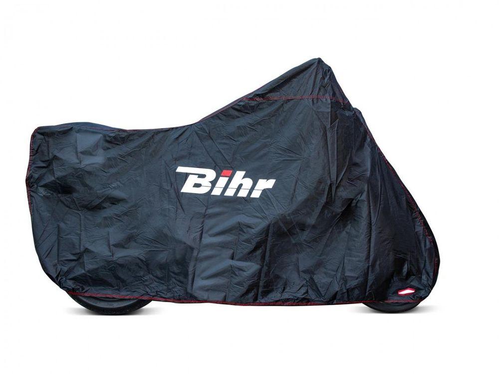 Bihr Beschermhoes H2O Zwart XL - Motor/Scooter met Windscherm (277x103x141cm)