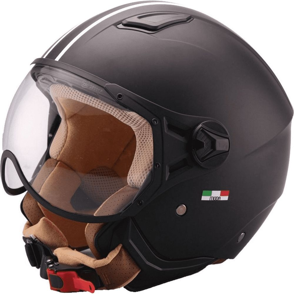 Helm Vito Moda Jet Zwart-Mat/Bruin - S