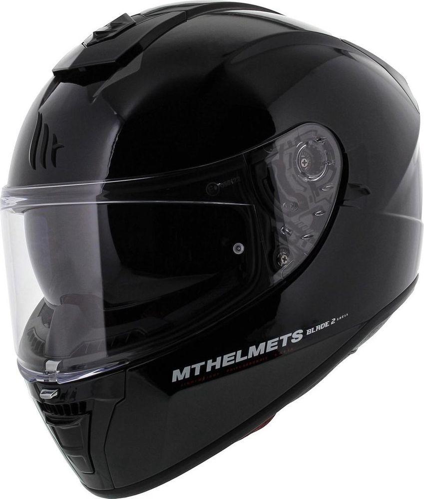 Helm MT Blade II SV Solid Zwart Glans - XL