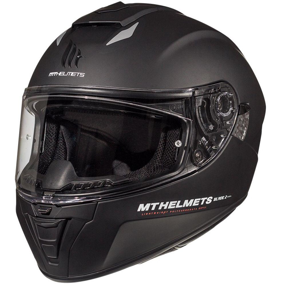 Helm MT Blade II SV Solid Zwart-Mat - L