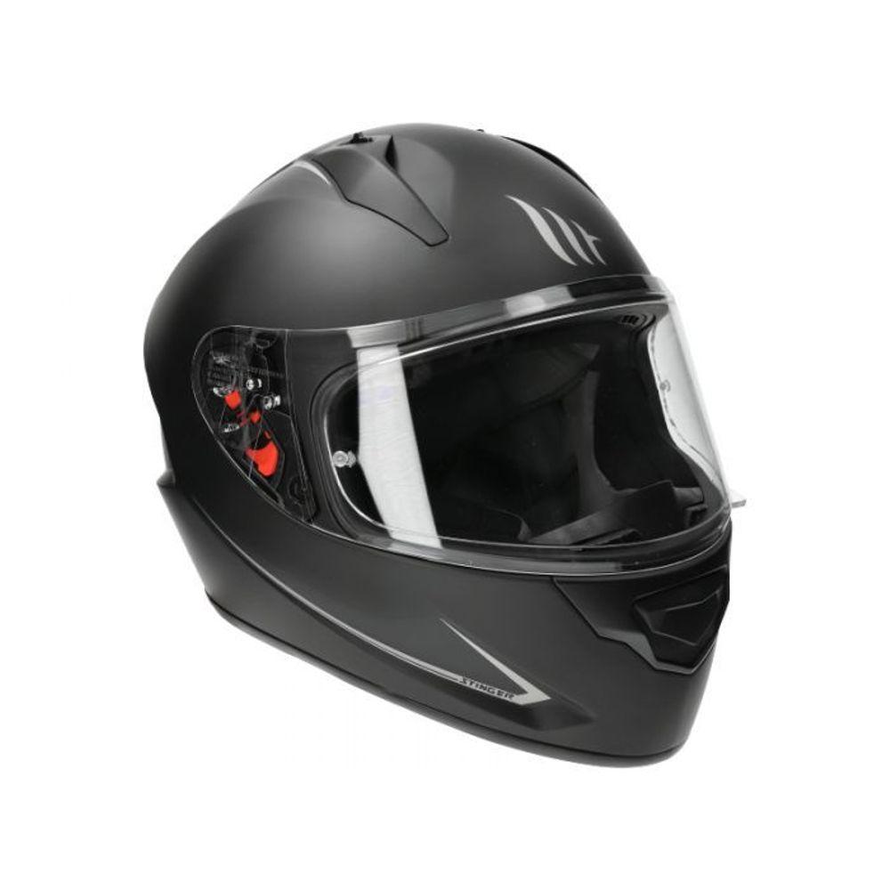 Helm MT Stinger Solid Zwart-Mat - XL
