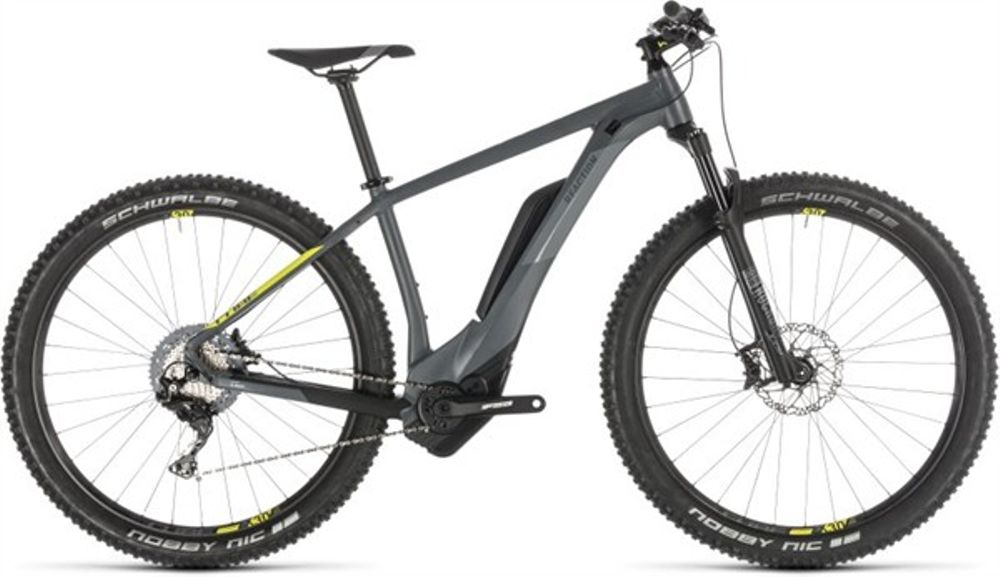 Cube Reaction Hybrid Race 500, Incl. 500Wh, Grey/lime