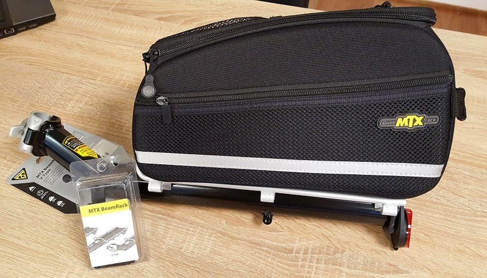 set bagagedrager met tas 8 liter