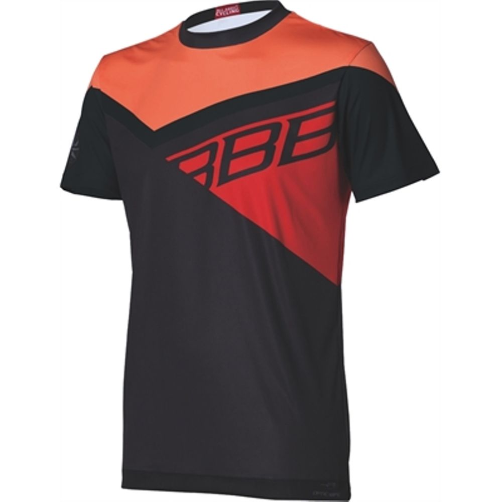 BBW-315 Shirt Gravity MTB Style L Zwart/oranje/rood