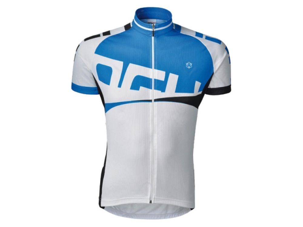 Shirt km line wit/blauw l