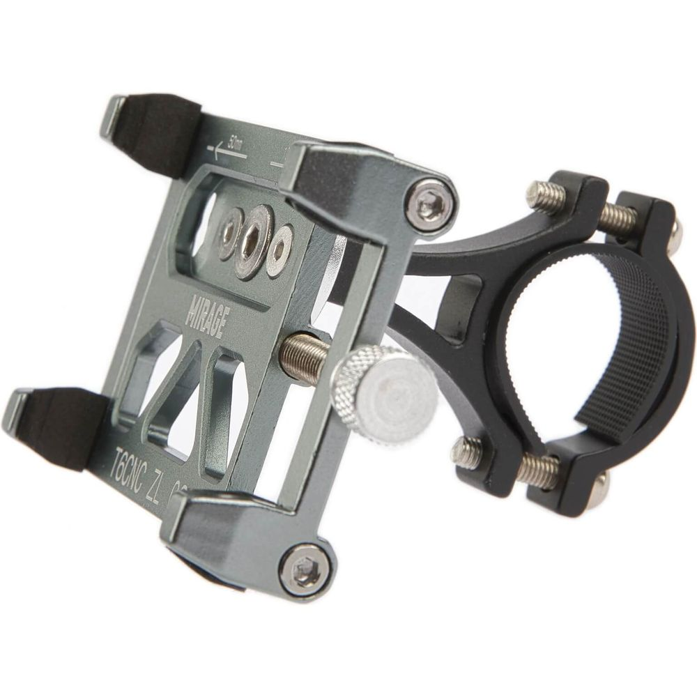 Mirage telefoonhouder aluminium m/bracket, gun metal