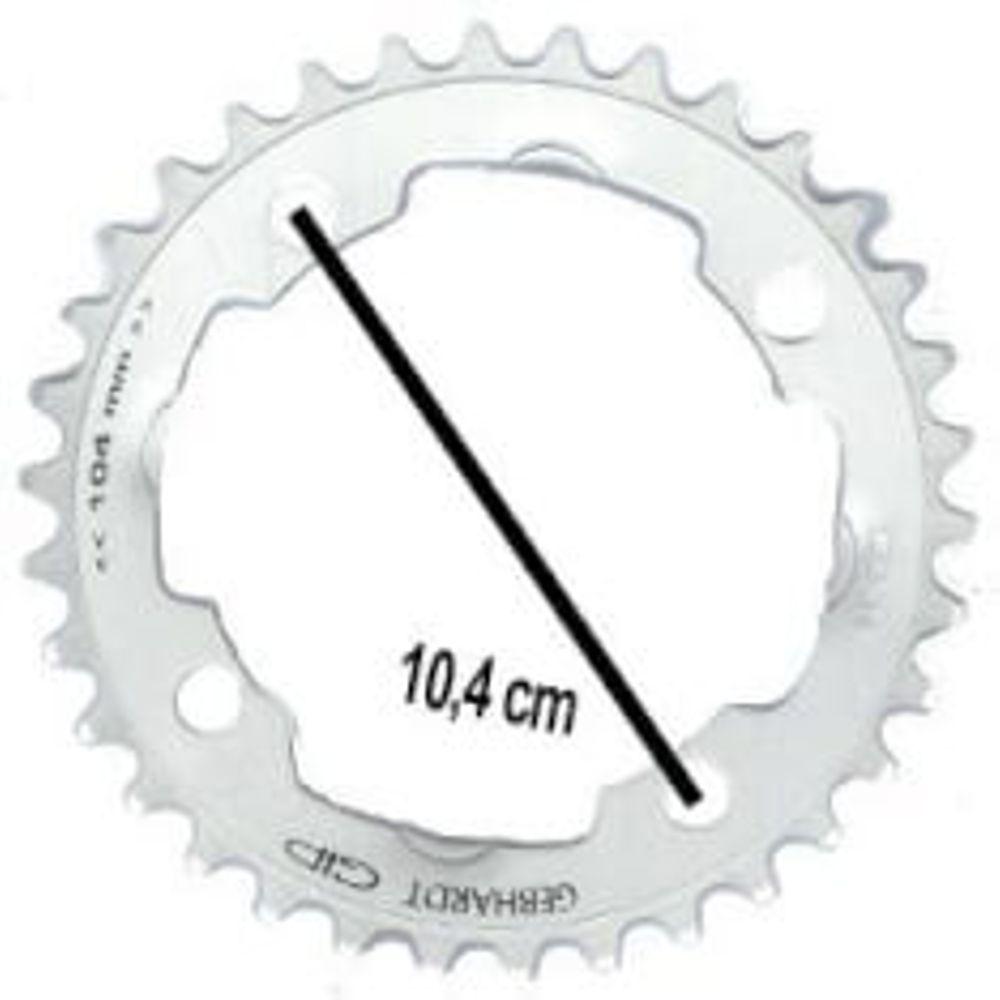 Gebhardt kettingblad 32t 4gts zilver 9sp
