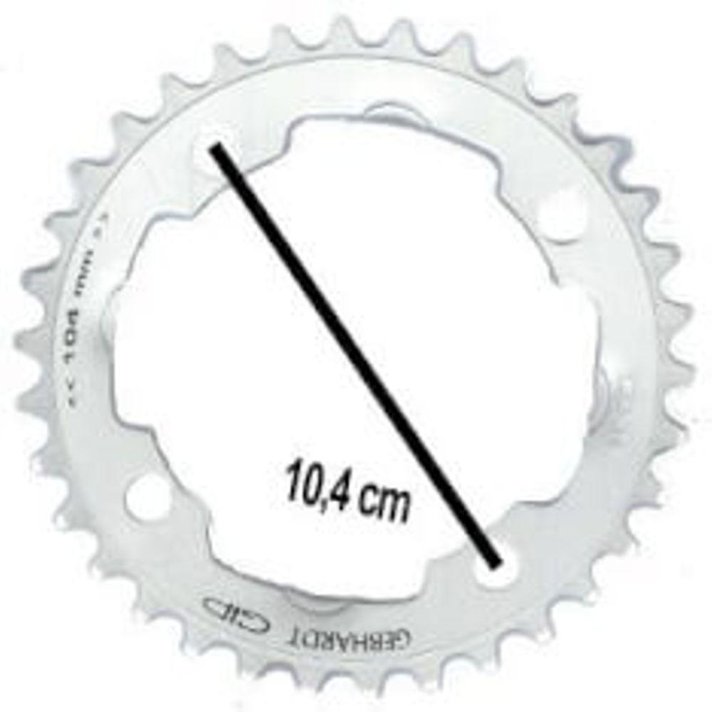 Gebhardt kettingblad 42t 4gts zilver 9sp