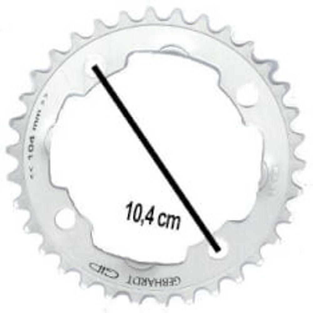 Gebhardt kettingblad 44t 4gts zilver 9sp