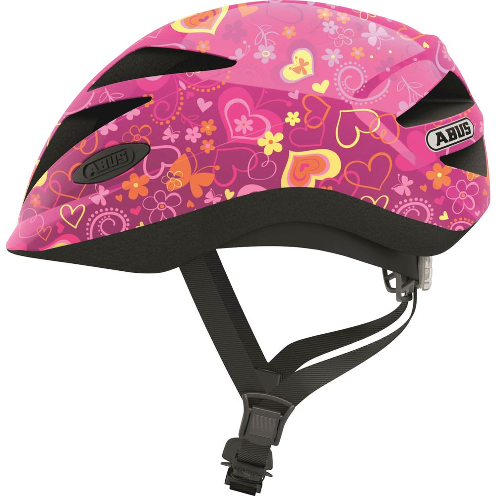 Abus helm hubble 1.1 purple flower s 46-52