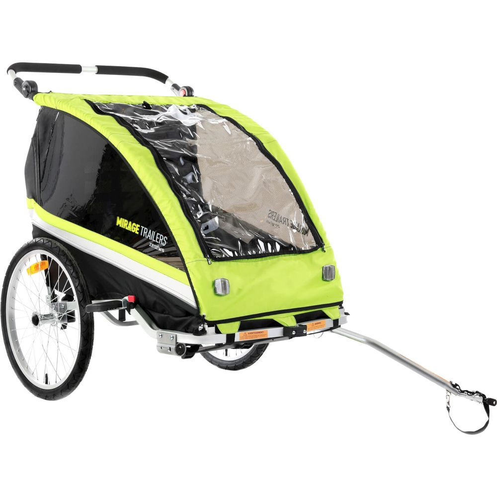 Kids fietstrailer Mirage Zero-Two aluminium