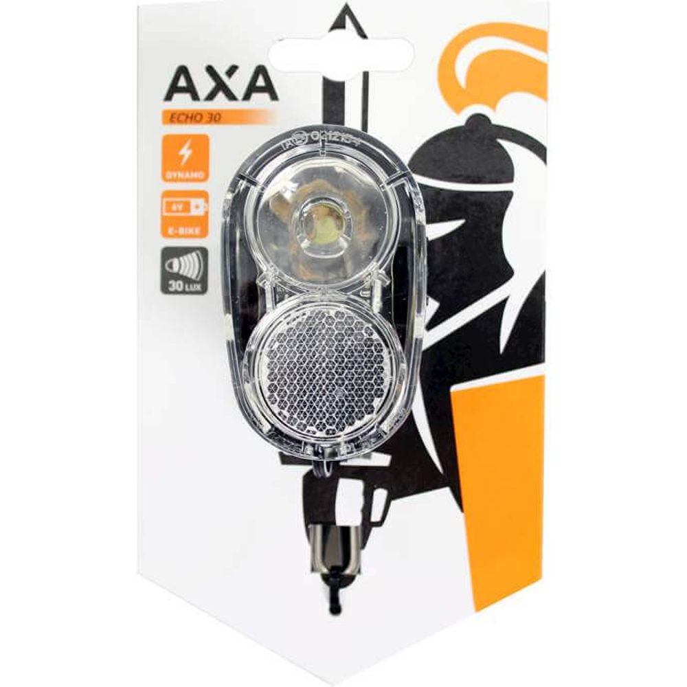 Axa led lamp voorlicht echo 30 lux on/off (naaf)dy
