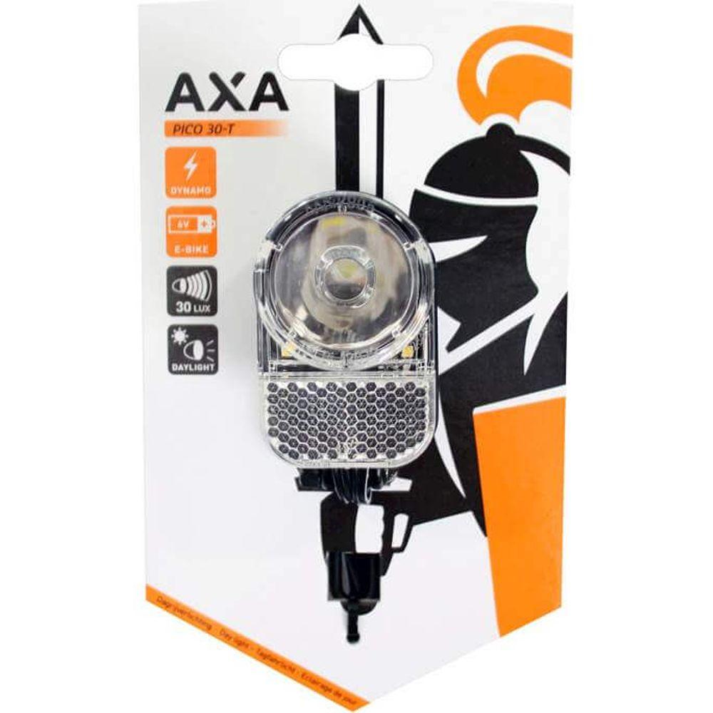 Axa koplamp Pico T led switch aan/uit dynamo 30 lux zwart