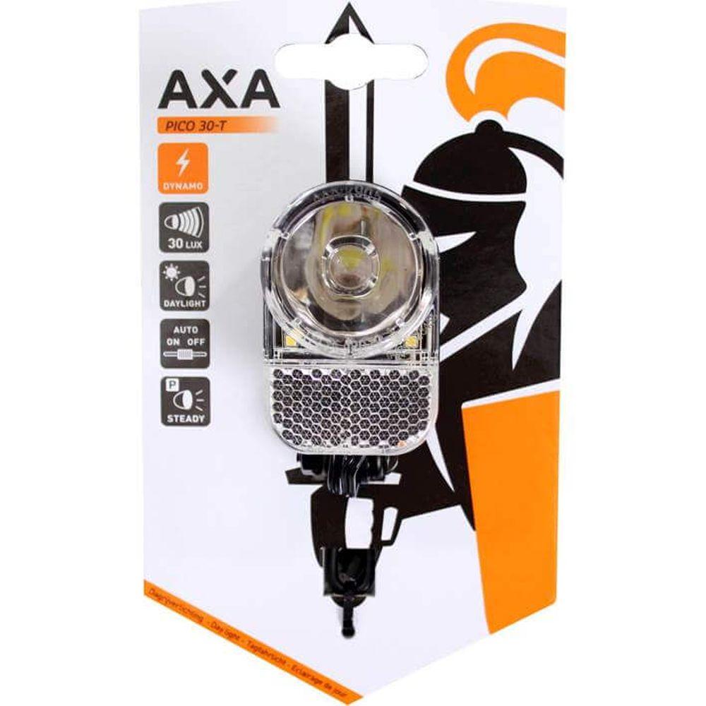 Axa koplamp Pico T led steady auto dynamo 30 lux zwart