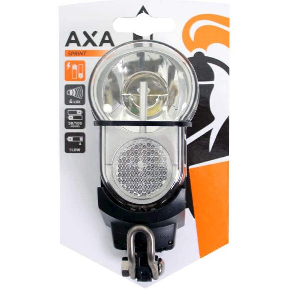Axa led lamp voorlicht sprint 4 lux batterij zwart