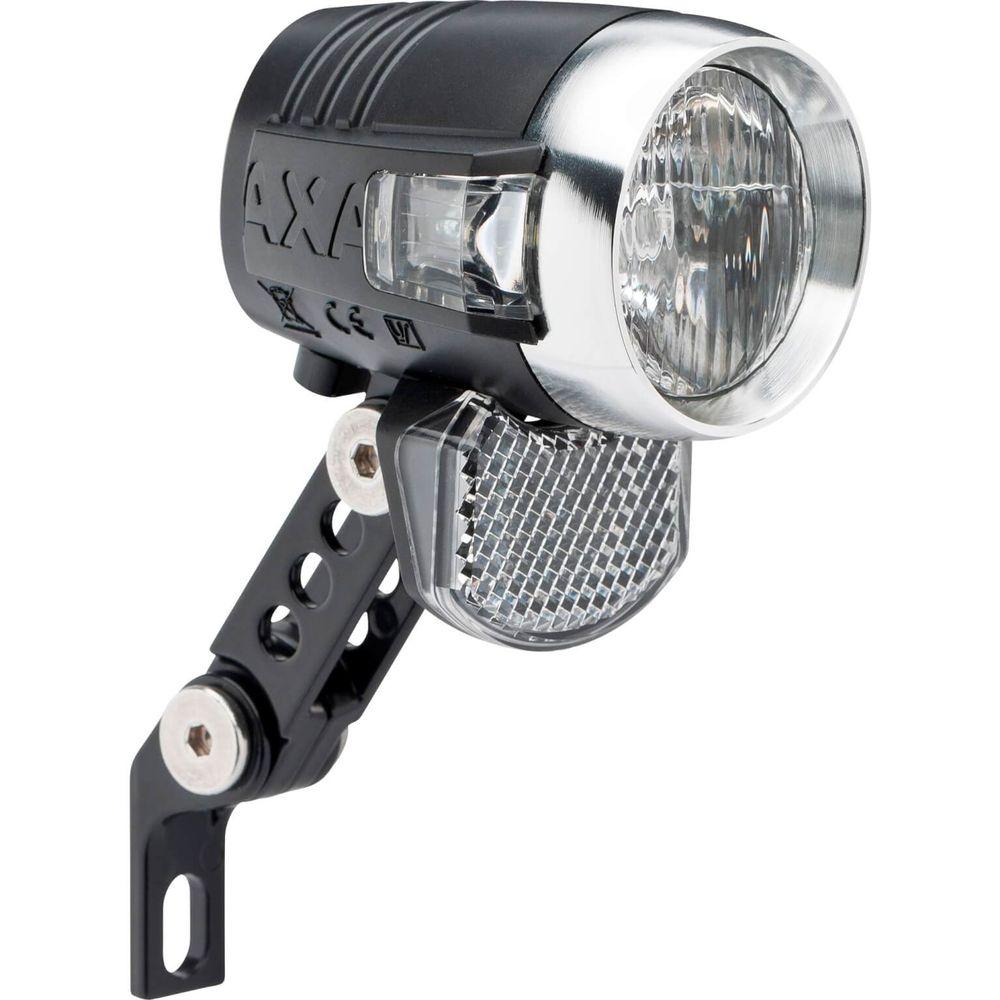 Axa koplamp Blueline switch aan/uit dynamo 50 lux zwart