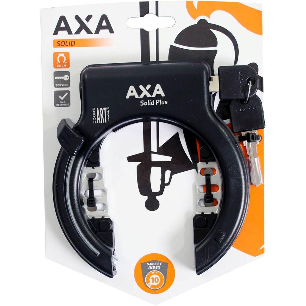 Ringslot Axa Solid Plus ART2 - zwart (op kaart)