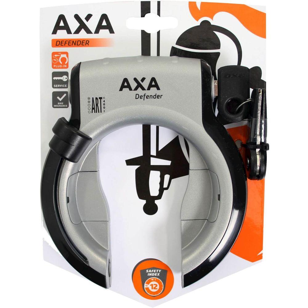 Axa ringslot defender rl spatbord grijs/zwart met