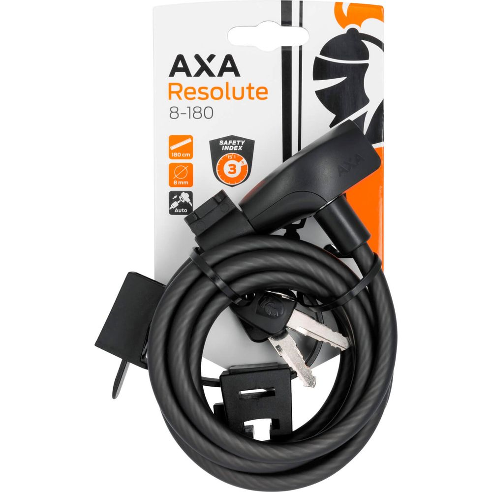 SLOT AXA KABEL RESOLUTE 180X8 M/HOUDER ZW