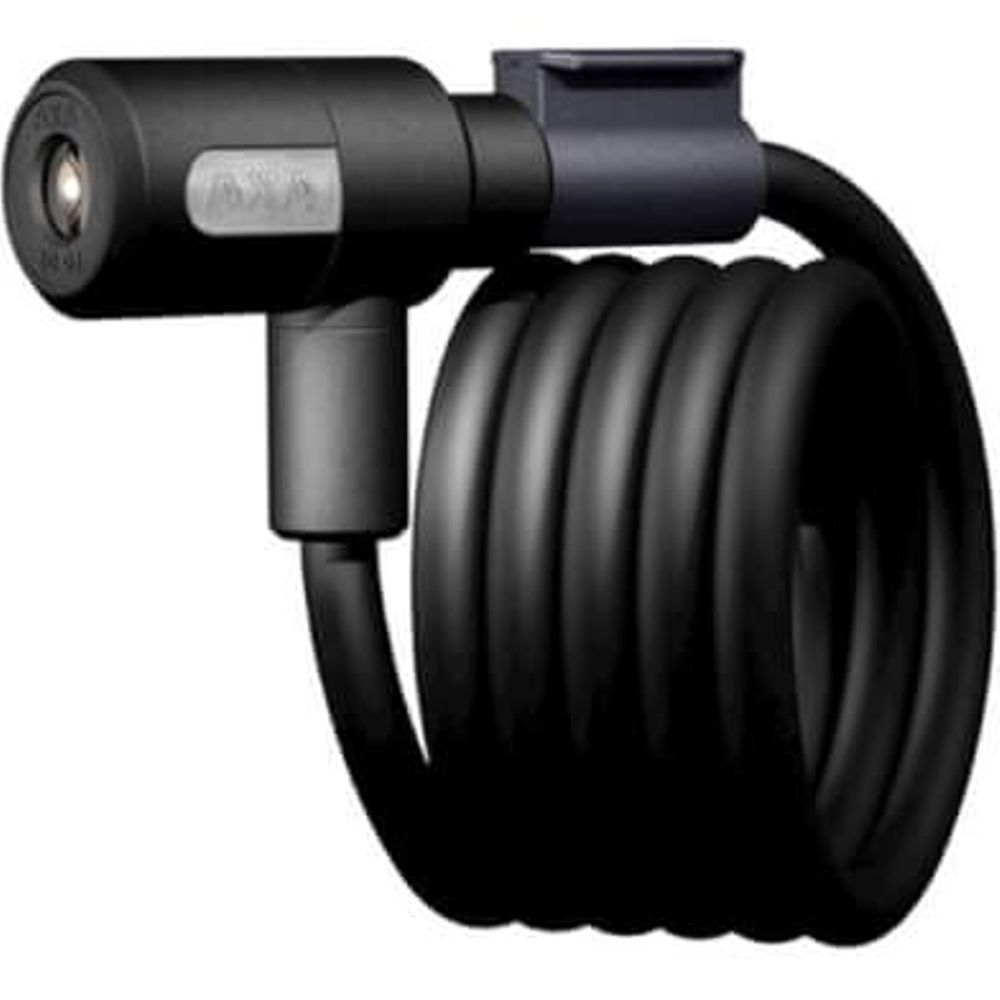 Spiraalkabelslot Newton 180/12 met houder - zwart