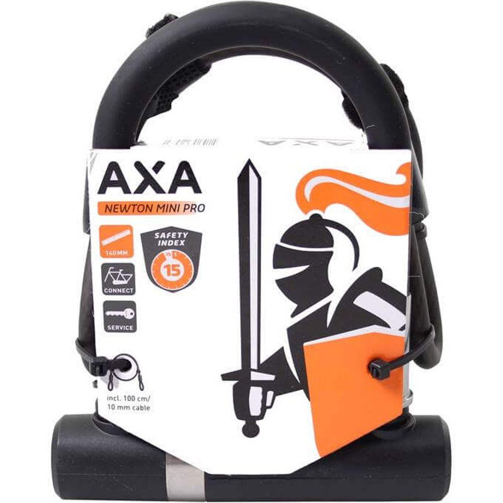Axa beugelslot newton pro ul mini met kabel 100/10
