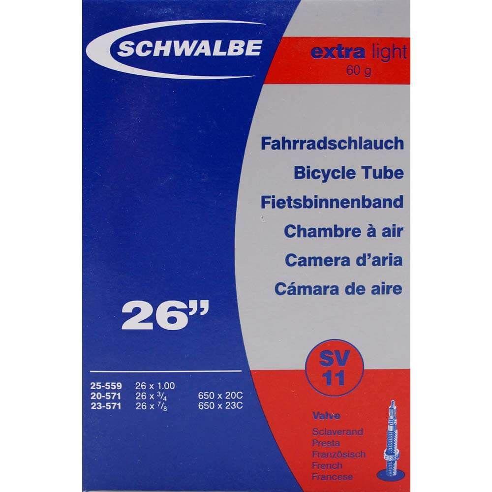 Schwalbe binnenband SV11 Extra Light 26 x 3/4 - 1.00 fv 40mm