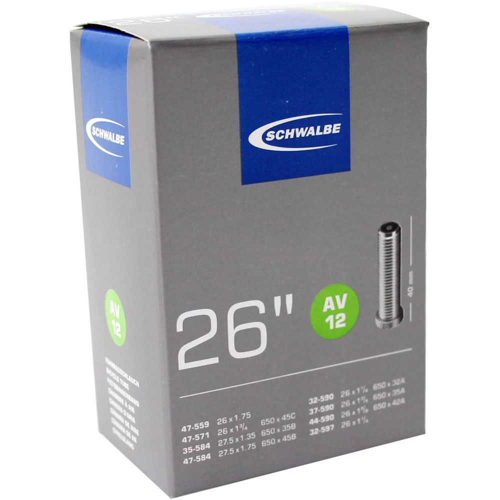 Schwalbe binnenband AV12 26 x 1 1/4 - 27.5 x 1.75 av 40mm