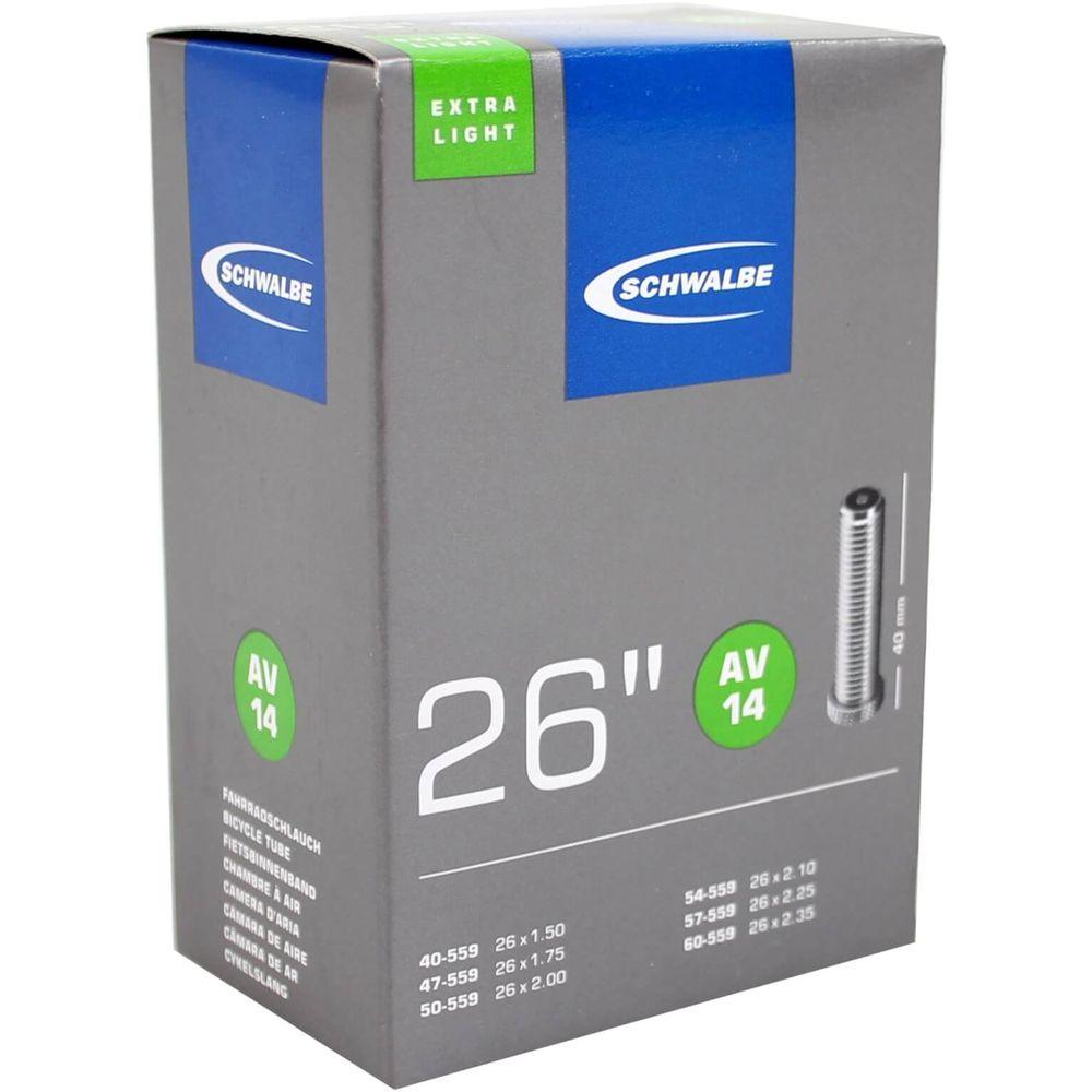 Schwalbe binnenband AV14 Extra Light 26 x 1.50 - 2.35 av 40mm