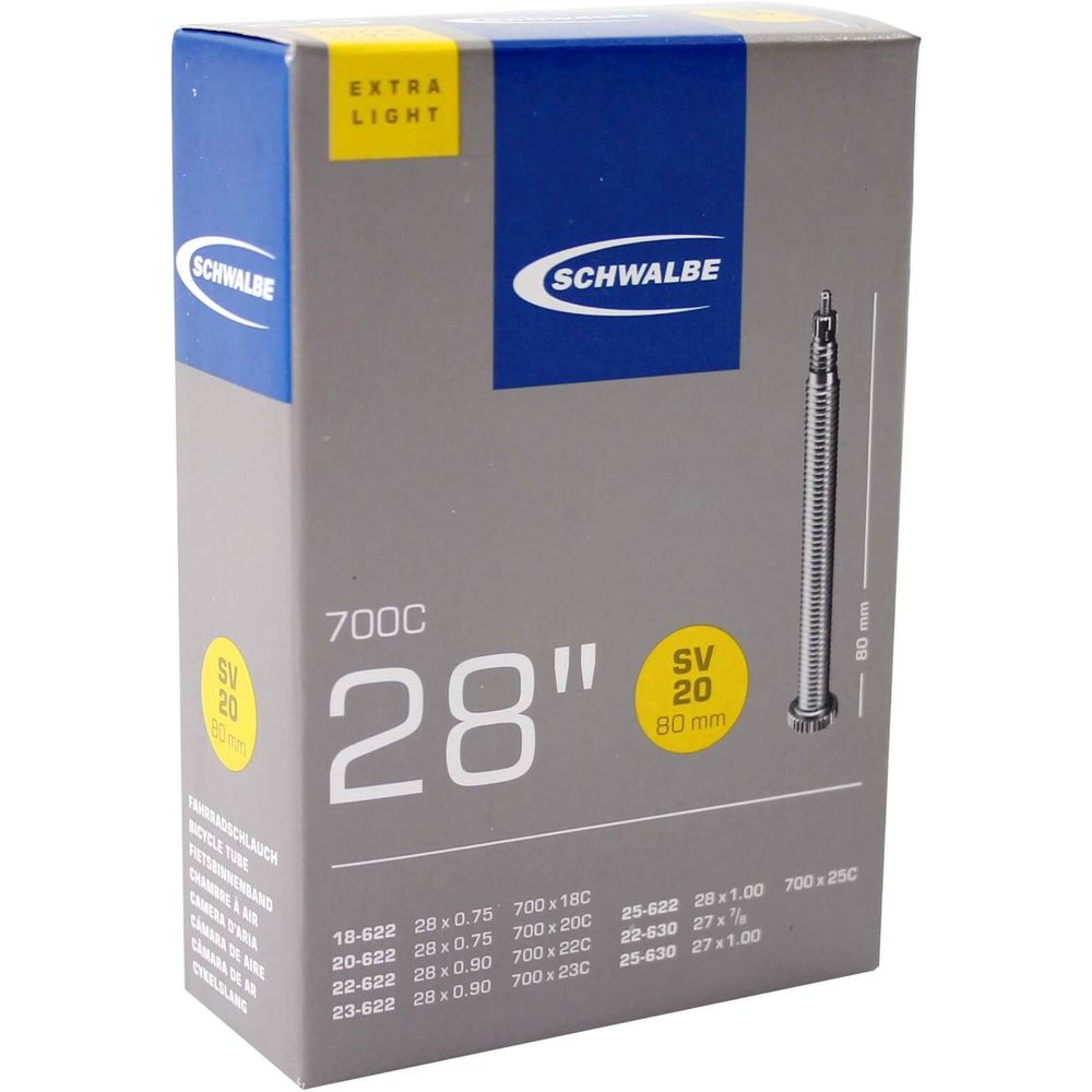 Schwalbe binnenband SV20 Extra Light 28 x 0.75 - 1.00 fv 80mm