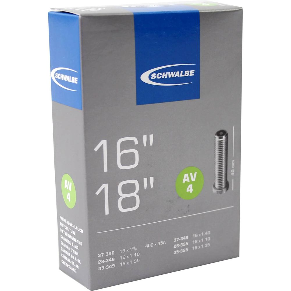 Schwalbe binnenband AV4 16 x 1 3/8 - 18 x 1.35 av 40mm