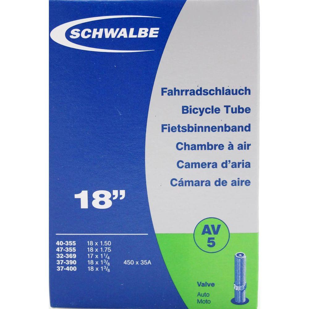 Schwalbe binnenband AV5 17 x 1 1/4 - 18 x 1.75 av 40mm