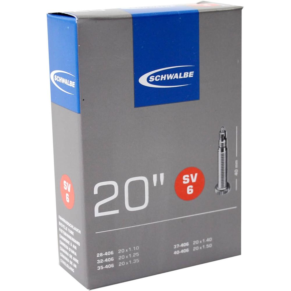 Bib 20x1 1/8-1.50 frans 40mm schwalbe 28/40-406 (s
