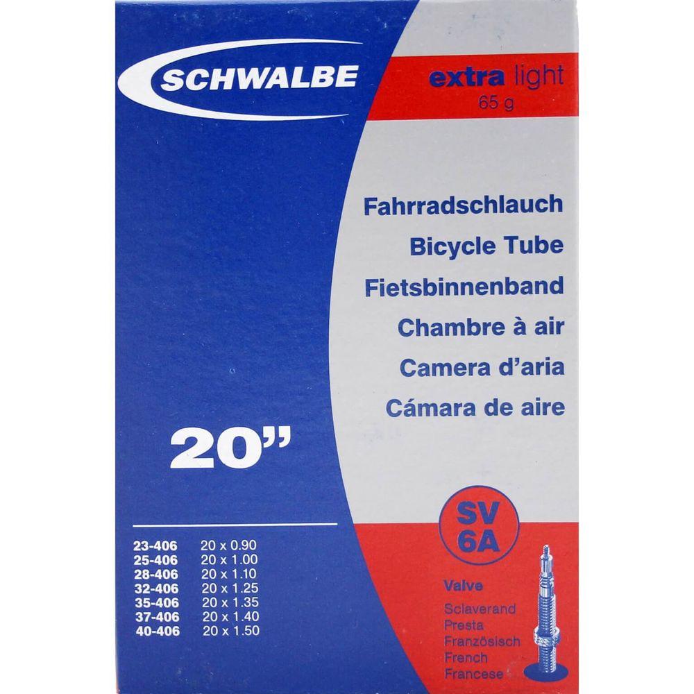 Schwalbe binnenband SV6A Extra Light 20 x 0.90 - 1.50 fv 40mm