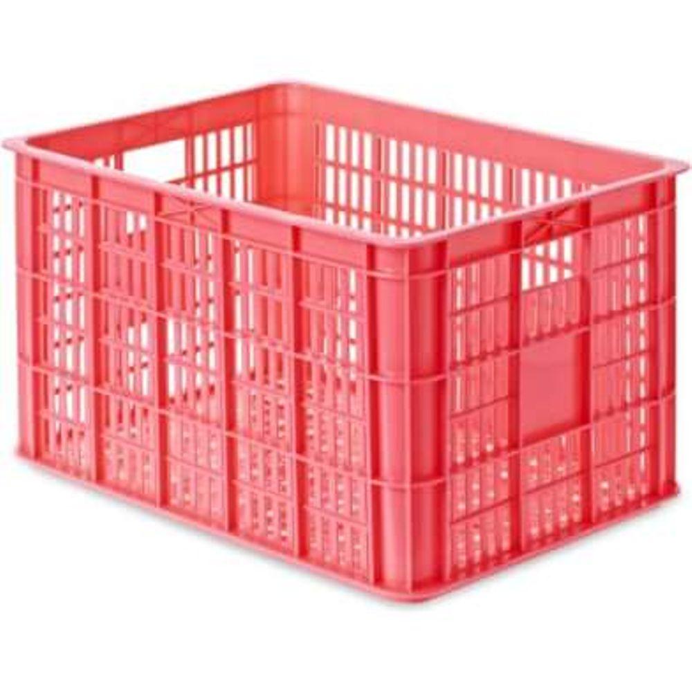 Fietskrat Basil Crate large 50 liter - fluor coral
