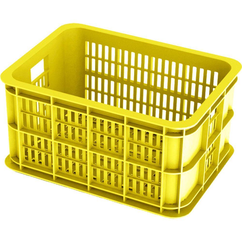 Fietskrat Basil Crate small 25 liter - lemon