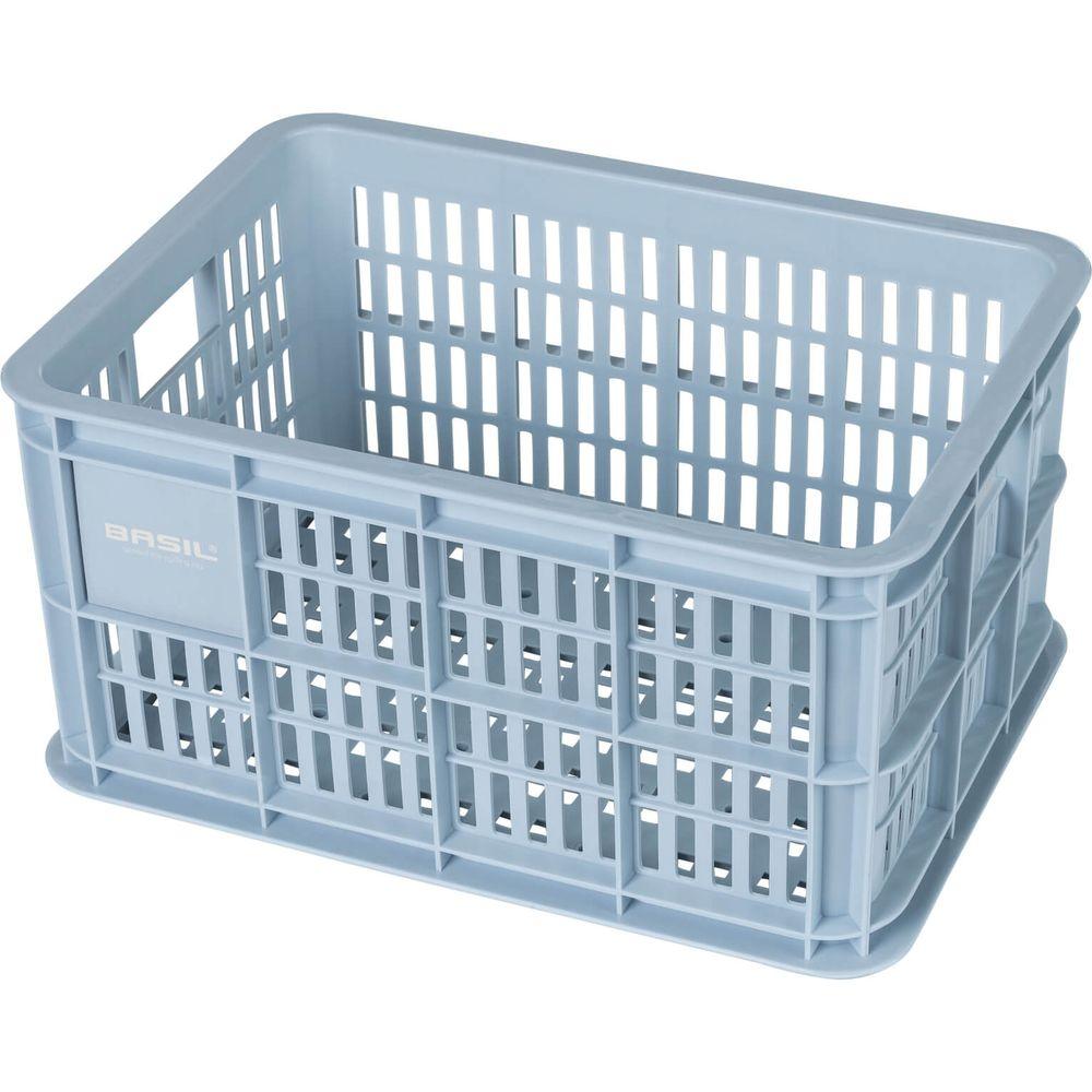 Fietskrat Crate small 25 liter - silver cloud