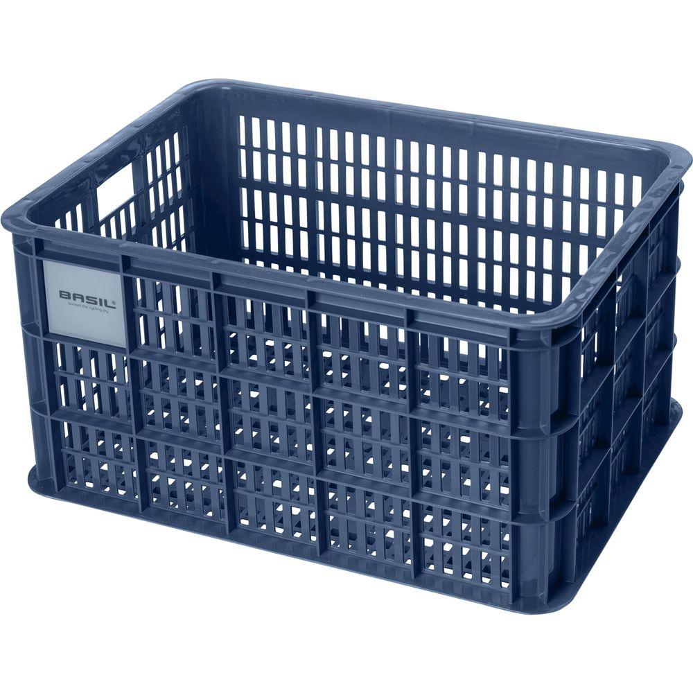 Fietskrat Basil Crate large 50 liter - Bluestone