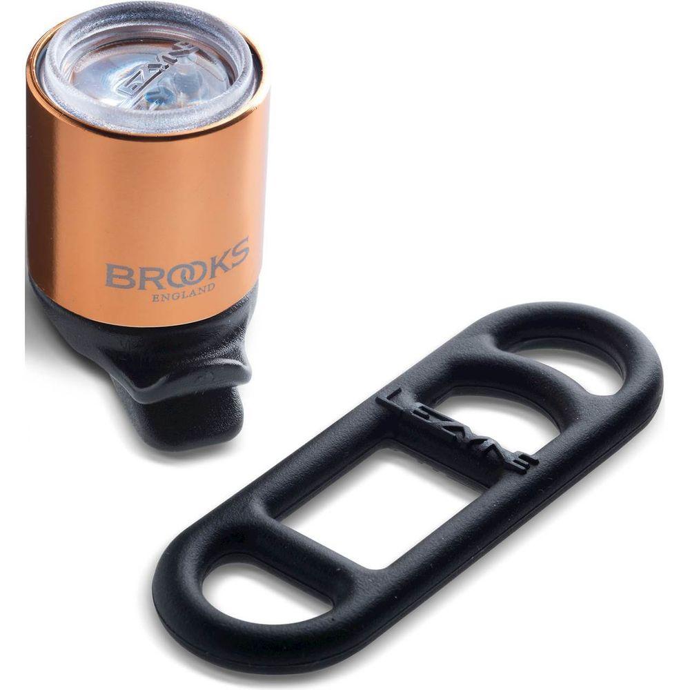 Brooks koplamp Lezyne batterij koper