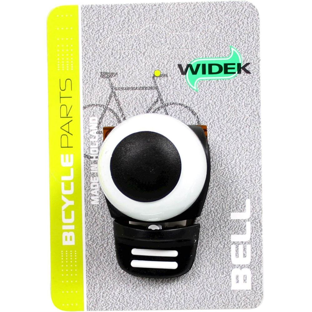 Fietsbel Widek Compact 2 - zwart/wit (op kaart)