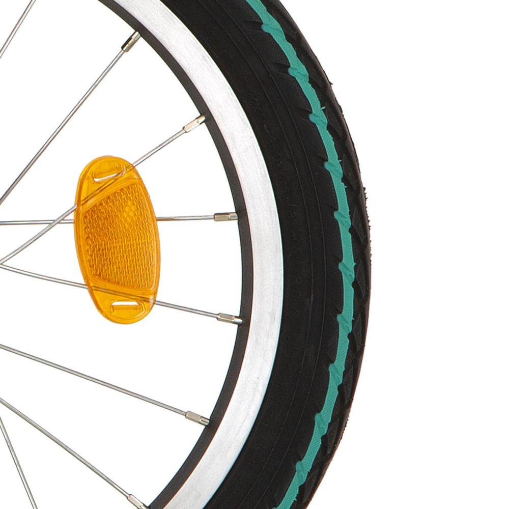 Deli Tire buitenband SA-206 16 x 1.75 zwart groene streep