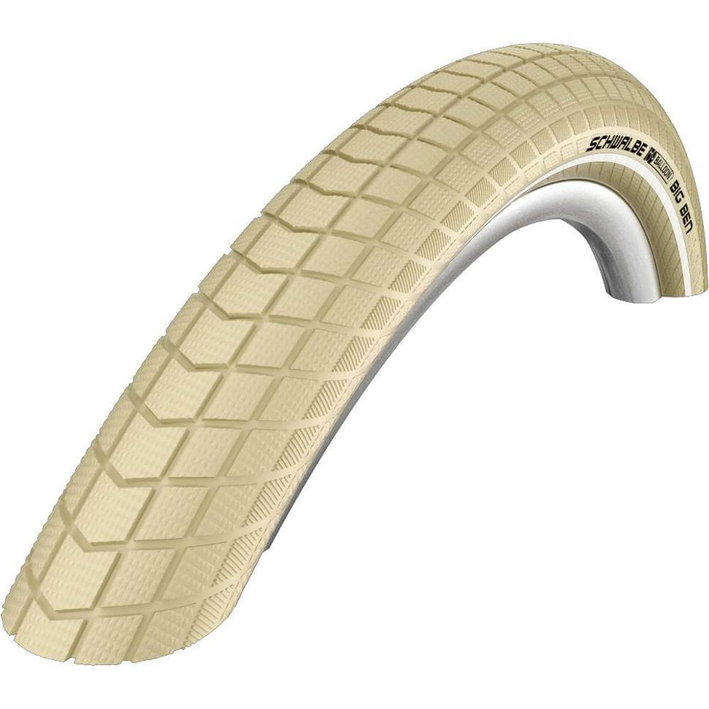 Schwalbe buitenband Little Big Ben K-Guard 28 x 1.50 creme refl