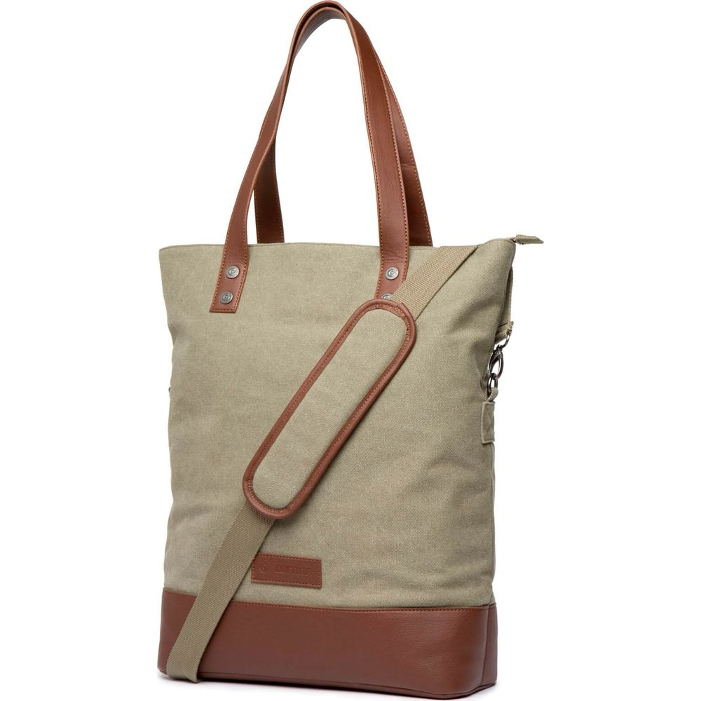 Cortina Oslo Shopper Bag canv/leather Army Green