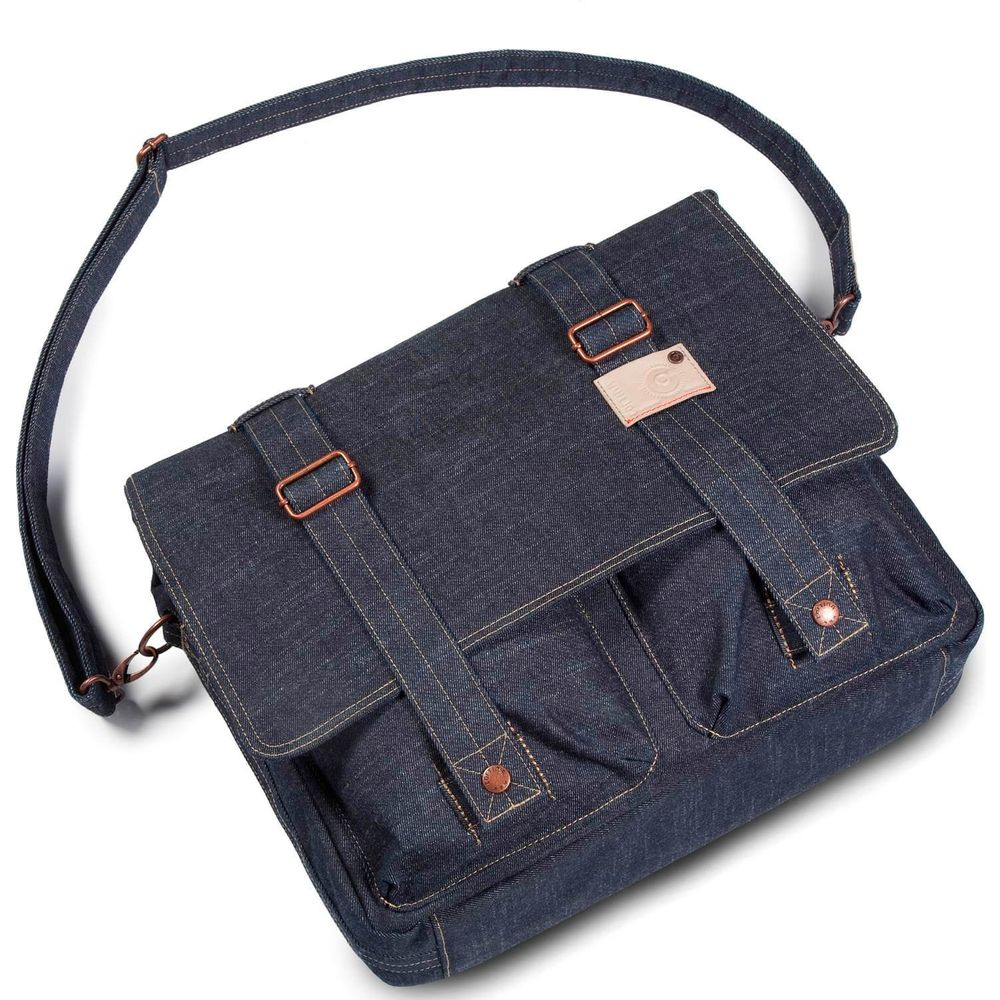 Cortina Kansas Messenger Bag Denim